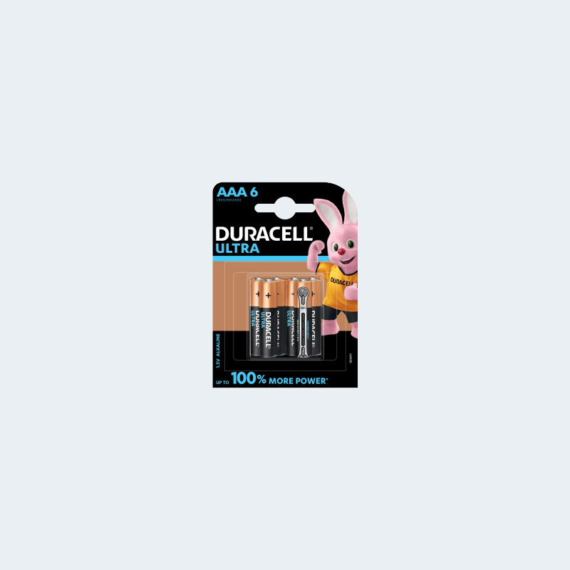 Duracell Ultra Batterie AAA 6 Pack